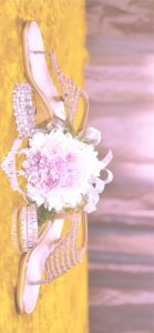ローズピンクのサンダル2
