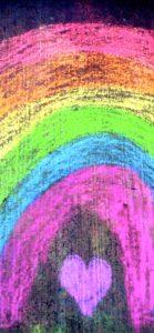 チョークで書いた虹1