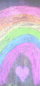 チョークで書いた虹2