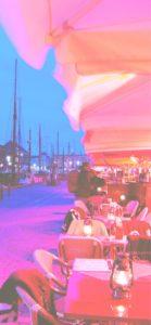 夜のオープンカフェ2