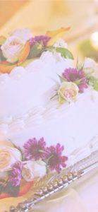 ケーキに飾られた花2