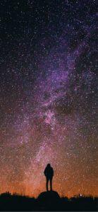 紫色の星空1