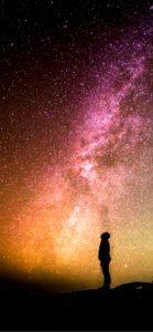 星空を見上げる人1