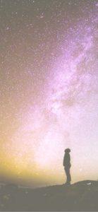 星空を見上げる人2