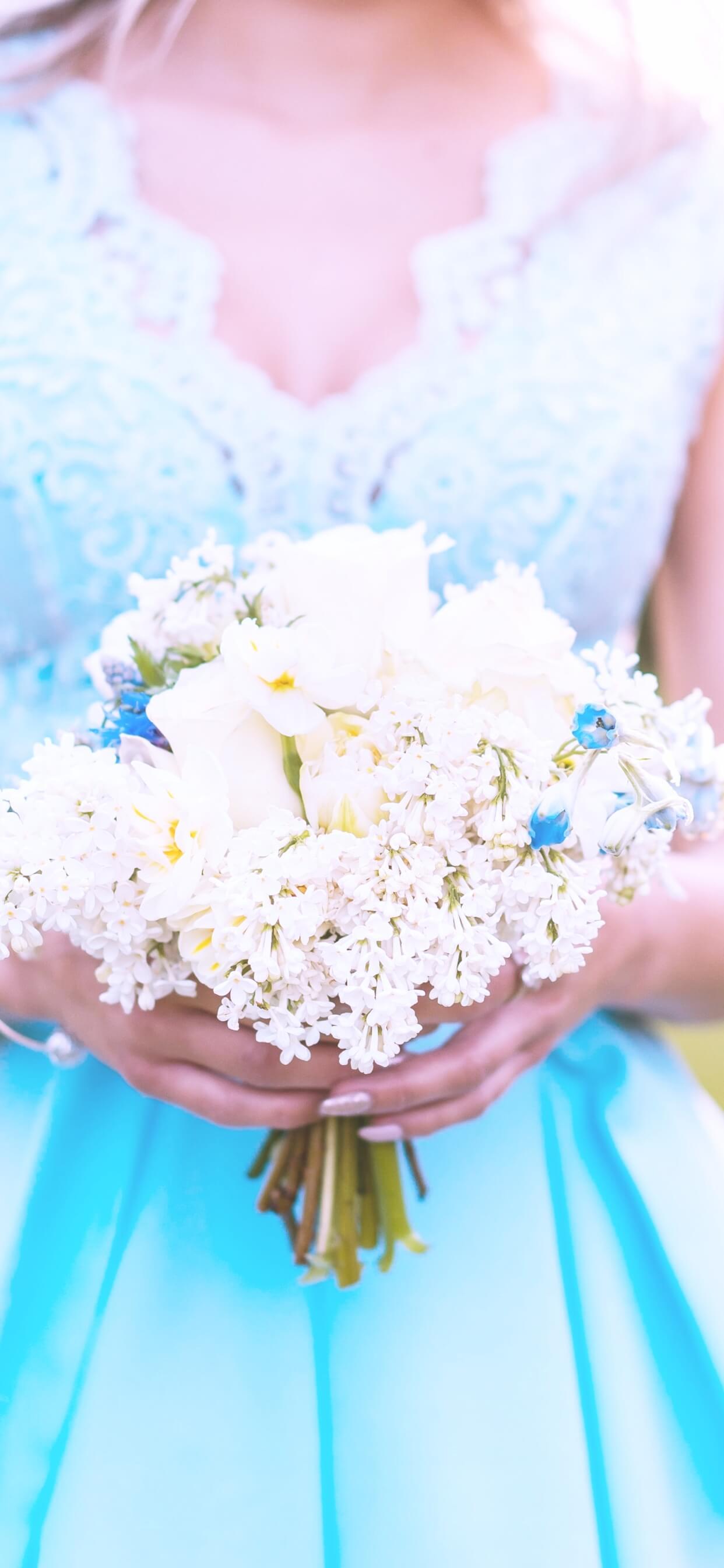 白い小花のブーケ2
