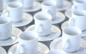 白いコーヒーカップ