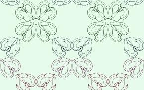 白背景に花のイラストデザイン