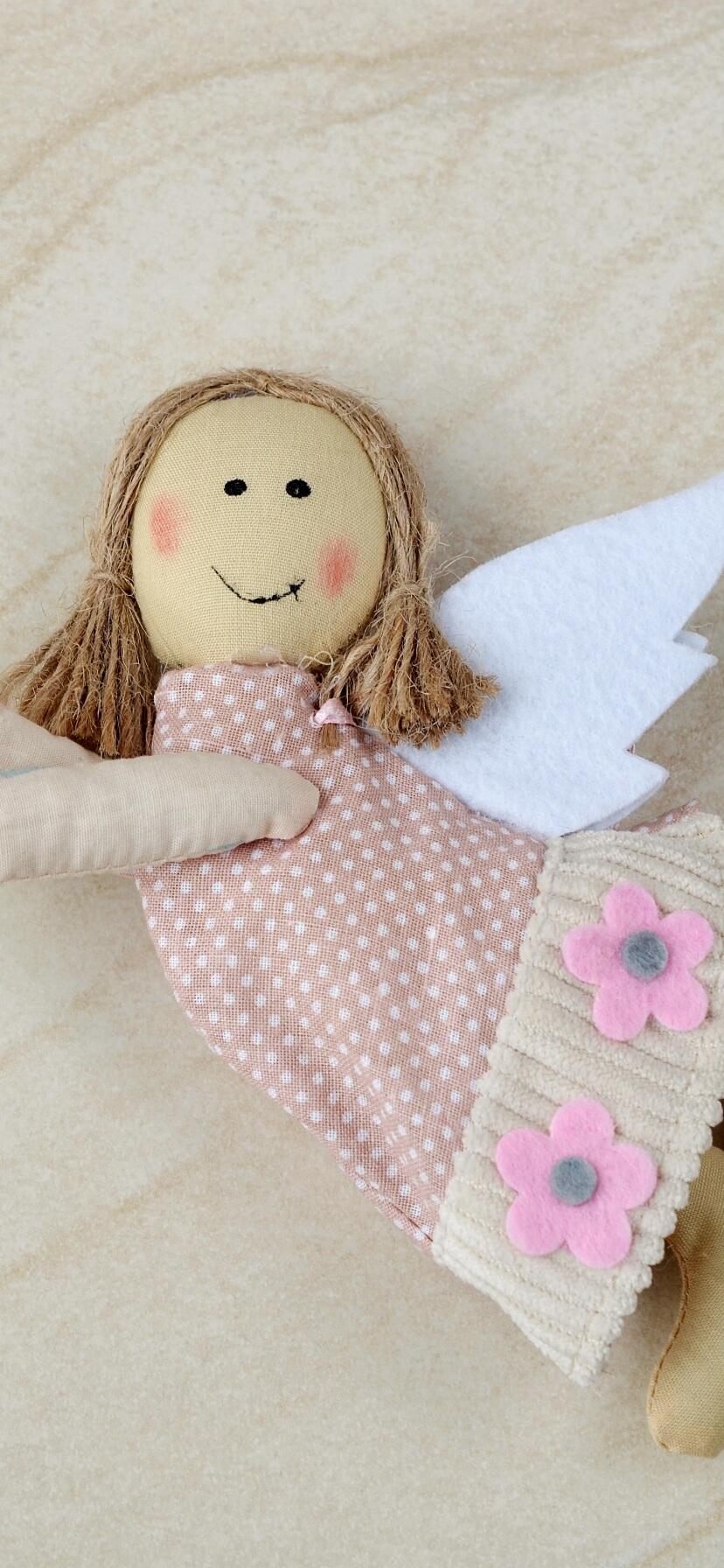 布で作った天使