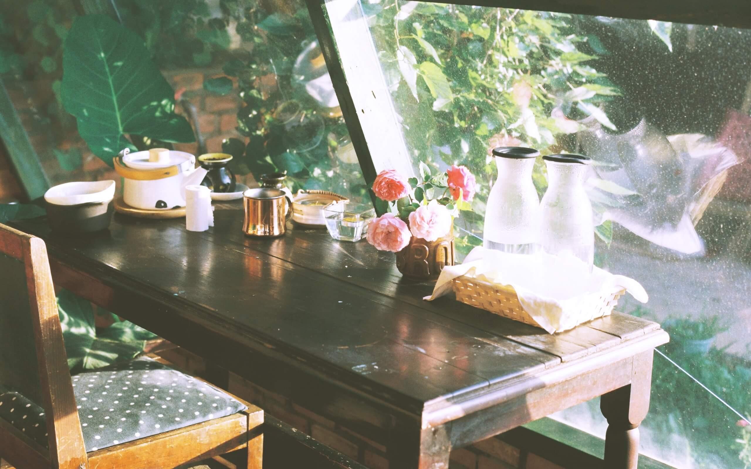 春のカフェ2