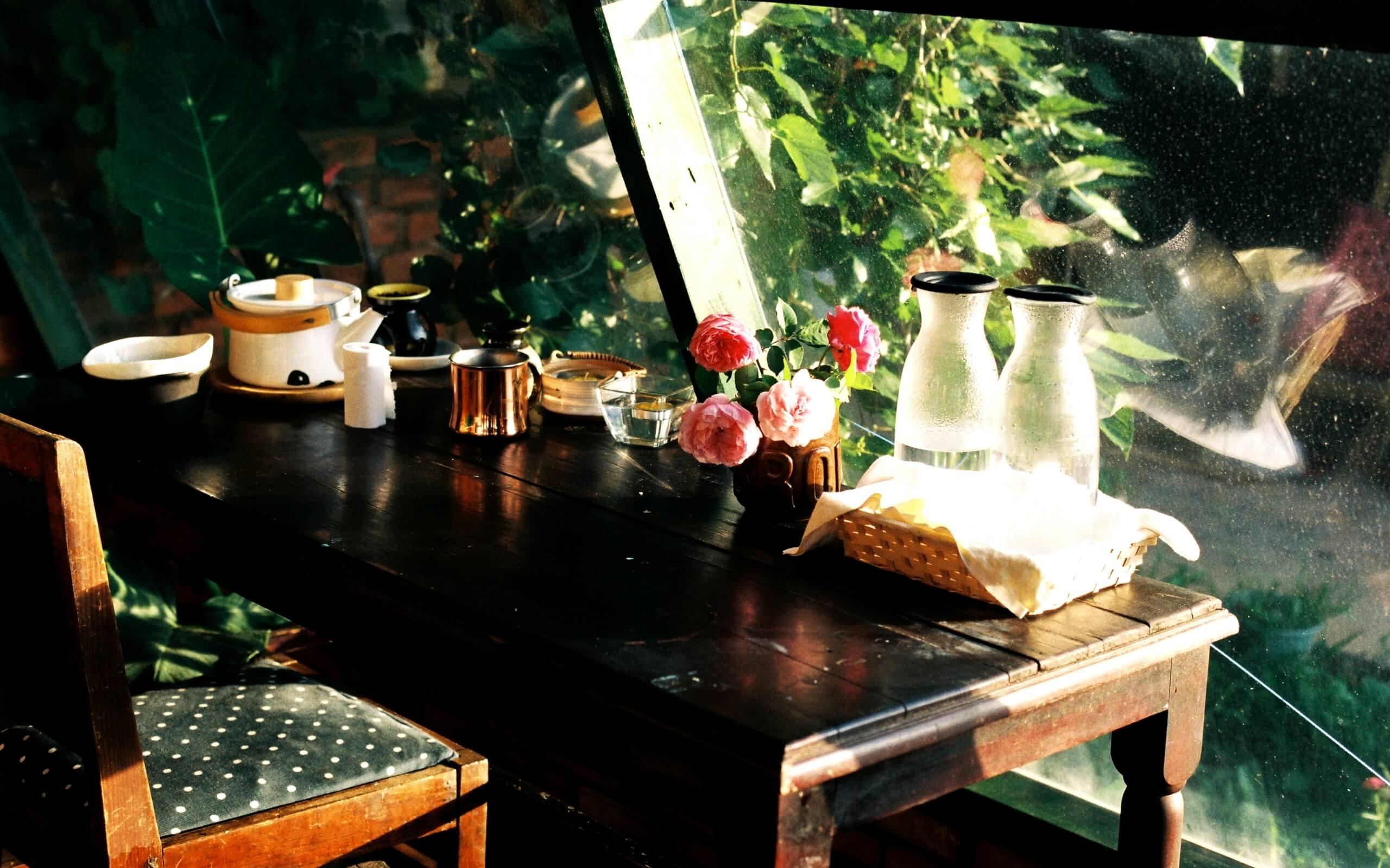 春のカフェ1