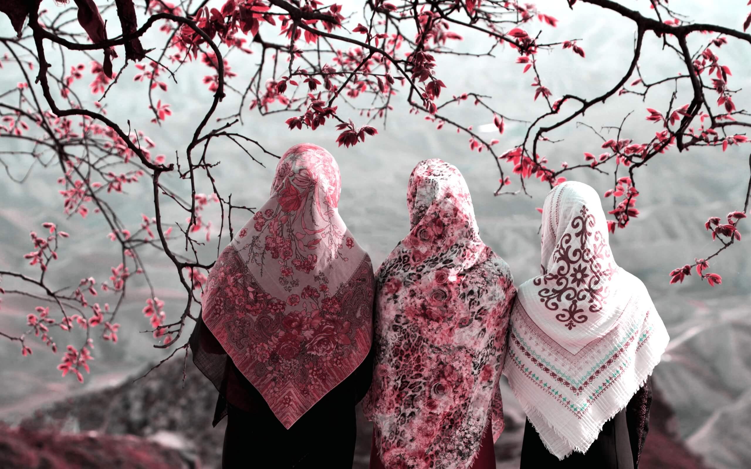 春らしいヒジャブの女の子1